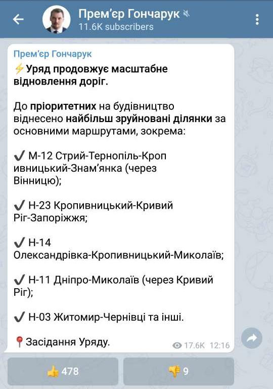 honcharuk-ministr-remont-dorig-2020
